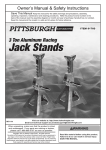 Harbor Freight Tools 3 Ton Aluminum Jack Stands Product manual