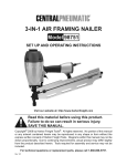 Harbor Freight Tools 3_in_1 Product manual