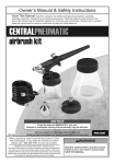 Harbor Freight Tools 3/4 And 1_1/20 Oz Airbrush Kit Product manual