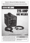 Harbor Freight Tools 225 Amp_AC, 240 Volt, Stick Welder Product manual