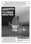 Harbor Freight Tools 2.5 HP Heavy Duty Plunge Router Product manual