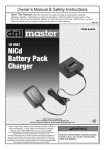 Harbor Freight Tools 18 Volt NiCd Battery Charger Product manual