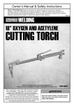 Harbor Freight Tools 18 Oxygen / Acetylene Cutting Torch Product manual
