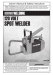 Harbor Freight Tools 120 Volt Spot Welder Product manual