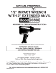 Harbor Freight Tools 1/2 in. Air Impact Wrench With Extended Anvil Product manual