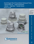 Greenheck Fan Centrifugal Roof Downblast Exhaust Fans GB User's Manual
