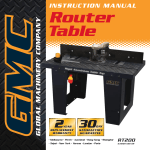 Global Machinery Company Router GMC Router Table User's Manual