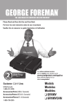 George Foreman GR180VCAN Use & Care Manual