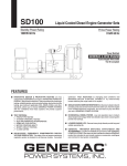 Generac SD100 User's Manual
