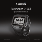 Garmin Forerunner 910XT Quick Start Manual