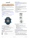 Garmin Forerunner 15 Quick Start Manual