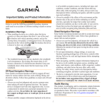 Garmin DC 50 Dog Tracking Collar Important Safety and Product Information