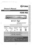 FUNAI FDR-90E Owner's Manual