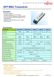 Fujitsu SFP MSA User's Manual