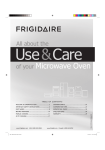 Frigidaire MWV150KW Owner's Guide