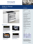 Frigidaire FPES3085K F User's Manual