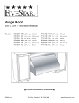 Five Star Ranges FSH301-WH User's Manual