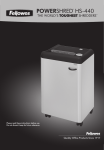 Fellowes PowerShred HS-440 User's Manual