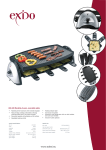 Exido Raclette-grill 243-045 User's Manual
