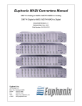 Euphonix DM714 User's Manual