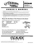 Escalade Sports B2304E User's Manual