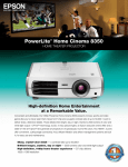 Epson 1080p Product Brochure