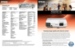 Epson PowerLite 93 Multimedia Projector Product Brochure