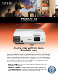 Epson PowerLite 92 Multimedia Projector Product Brochure