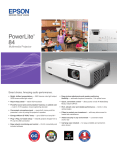 Epson PowerLite 84 Multimedia Projector Product Brochure