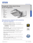 Epson 3LCD Product Specifications