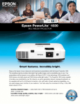 Epson PowerLite 1830 Multimedia Projector Product Brochure