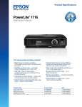 Epson PowerLite 1716 Multimedia Projector Product Brochure