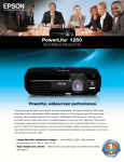 Epson PowerLite 1260 Multimedia Projector Product Brochure