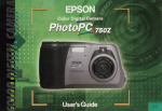 Epson PhotoPC 750Z User's Manual