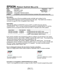 Epson Livingstation LS47P2 Product Support Bulletin