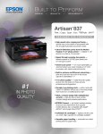 Epson Artisan 837 All-in-One Printer Product Brochure