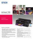 Epson Artisan 725 All-in-One Printer Product Brochure