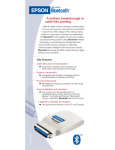 Epson Bluetooth Print Adapter from Product Brochure