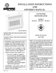 Empire Products SR-10T-3 User's Manual