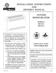 Empire Products RH-35-6 User's Manual