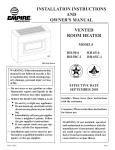 Empire Comfort Systems RH-50-6 User's Manual