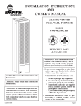 Empire Comfort Systems GWT-50-2 User's Manual