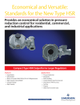 Emerson Type HSR Pressure Regulators Data Sheet