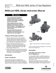 Emerson HSRL Series Second-Stage Regulator Instruction Manual