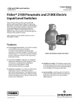 Emerson Fisher 2100 Data Sheet