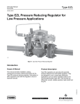 Emerson EZL Series Pressure Reducing Regulator for Low Pressure Applications Instruction Manual