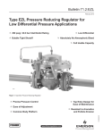 Emerson EZL Series Pressure Reducing Regulator for Low Pressure Applications Data Sheet