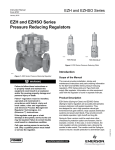 Emerson EZH and EZHSO Series Pressure Reducing Regulators Instruction Manual