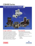 Emerson CSB400 Data Sheet