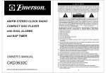 Emerson CKD3630C Owner's Manual